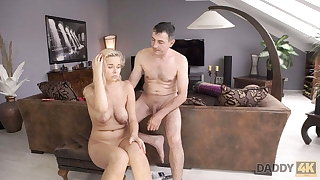 DADDY4K. Dude wakes up increased by catches blonde sucking dads