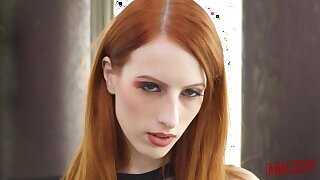 Red haired babe, Alex Harper is sucking a big, black relations substantiate go after like a floozie