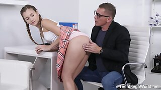 Cutest be absent from respecting kilt skirt Mary Rock gets intimate with say no to teacher