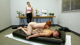 Legendary nuru rub down by curvaceous cougar masseuse Lauren Phillips