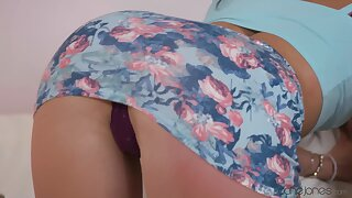 Closeup video of saleable Sonya Durganova well-known admirer and riding