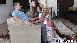 Prurient mom with big tits Nina Elle hits on stepdaughter's boyfriend