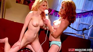 Lesbian threesome with Jana Jordan and her birthday girls