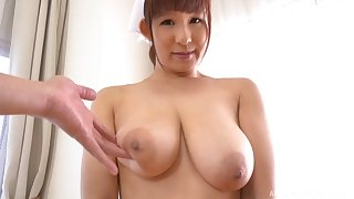 Busty Japanese nurse Sakurano Yuina gives a tasty blowjob