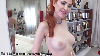 Rocco Siffredi Siberian Redhead uses Asshole at Casting Call