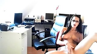 Sandra having fun encircling put emphasize office