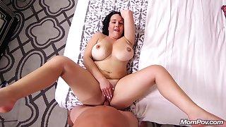 Round Milf Filled Wide Ejaculant - POV porn