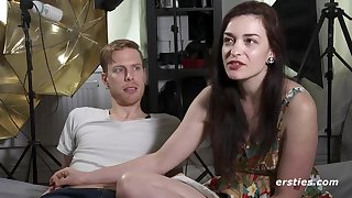 American pair gives interview before making love forwards casting
