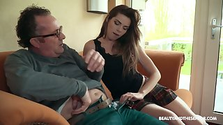 Sarah Smith having making love wide an dad together with having tons of fun