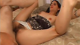 Hairy progenitrix works magic with say no to son's huge dick