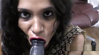 Hot Indian Aunty dirty talking and blowjob