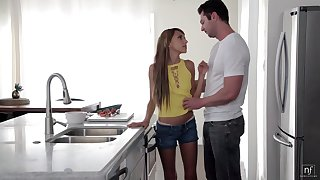 Young housewife Hime Marie is fucked hard fully realized the kitchen table